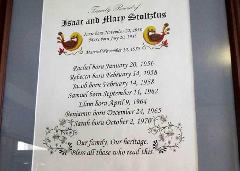 список семьи амиш