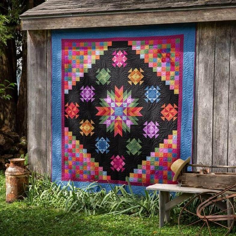 красивое амишское одеяло
