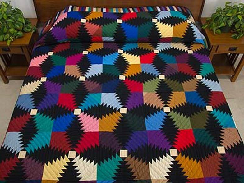 яркое амишское одеяло