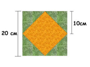 размеры блока квадрат в квадрате
