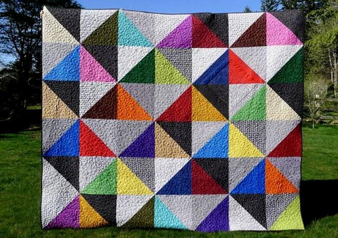 пэчворк для начинающих, составные квадраты из треугольников