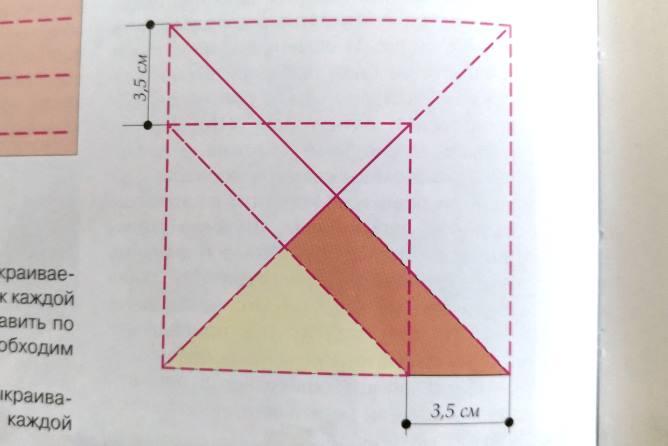 схема кроя из 4 треугольников