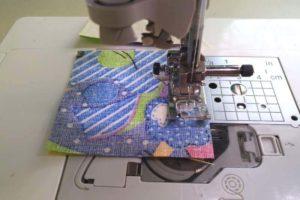 сшиваем лоскутные квадраты