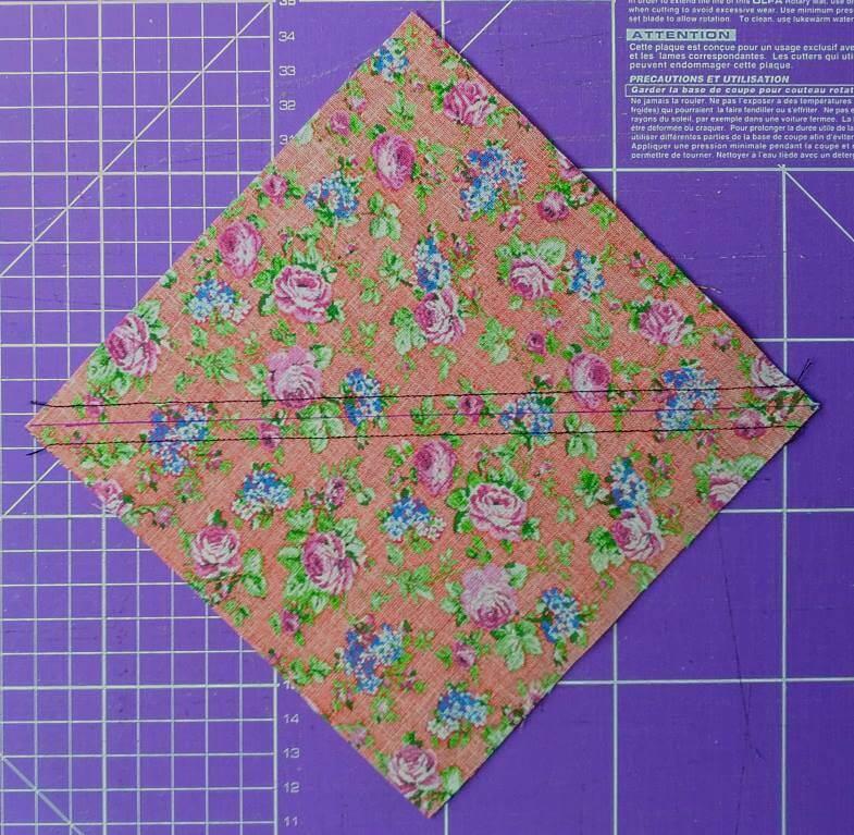 строчки вдоль диагонали квадрата