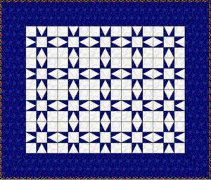 шьем лоскутное одеяло: блоки без разделительных полос