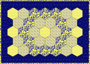 шьем лоскутное одеяло: квилт из шестиугольников