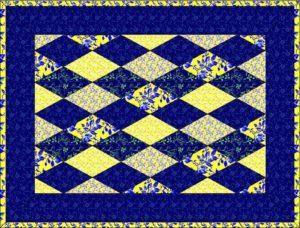 шьем лоскутное одеяло: квилт из ромбов