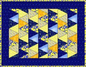 шьем лоскутное одеяло: квилт из треугольников