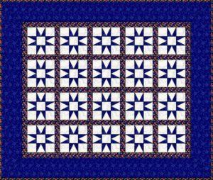 шьем лоскутное одеяло: схема с разделительными полосами