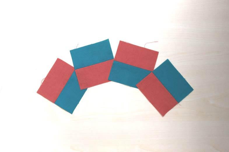 разрезаем полосу на 4 части