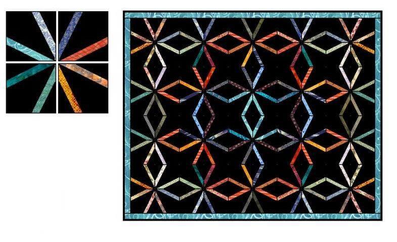 цепной узор лоскутного одеяла