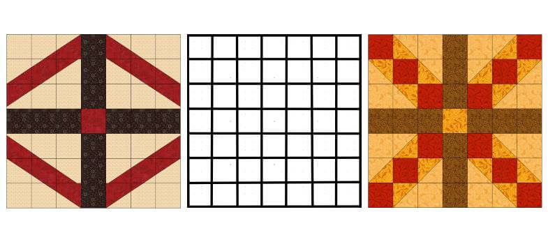 блоки с сеткой 7 на 7 квадратов