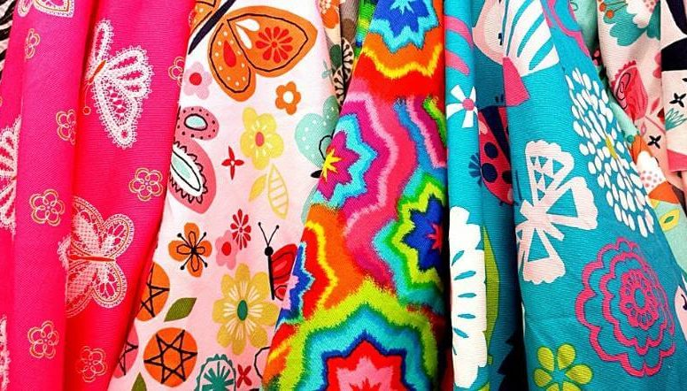 разноцветные ткани для пэчворка