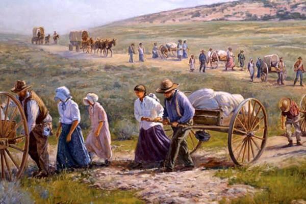 американские пионеры: мормоны в путешествии на запад