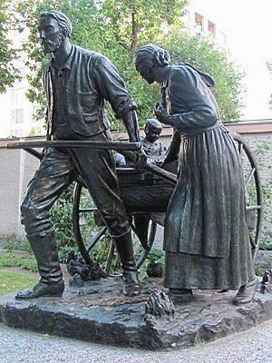 американские пионеры: памятник мормонам-переселенцам