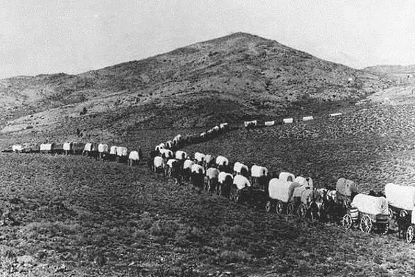 американские пионеры в пути, фото каравана