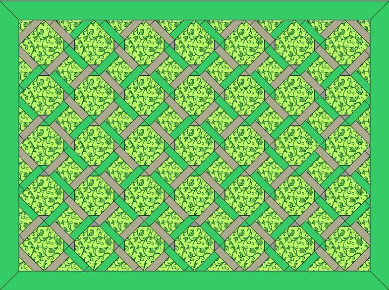 исходный макет одеяла